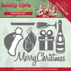 Dies - Yvonne Creations - Bubbly Girls Christmas - Set de Noël