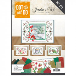 Dot and do Livre n°1 - Kit Carte 3D - Noël classique