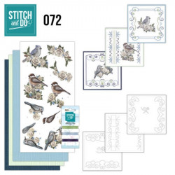 Stitch and do 72 - kit Carte 3D broderie - Hiver vintage