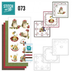 Stitch and do 73 - kit Carte 3D broderie - Ca ira mieux demain