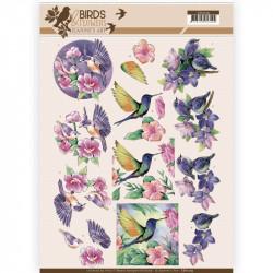Carte 3D à découper - Jeanine's Art - Birds and Flowers - Oiseaux Tropicaux