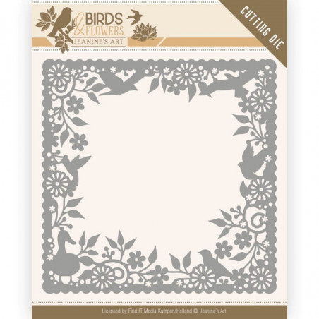 Die - Jeaninnes art - JAD10057 - Birds and Flowers - Cadre