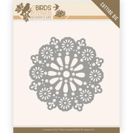 Die - Jeaninnes art - JAD10060 - Birds and Flowers - Cercle Daisy