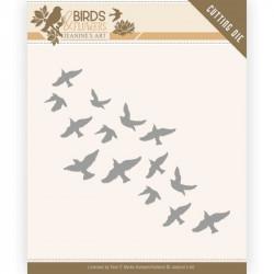 Die - Jeaninnes art - Birds and Flowers - Envolée d'oiseaux