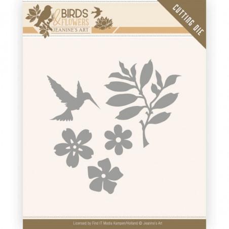 Die - Jeaninnes art - JAD10063 - Birds and Flowers - Feuilles