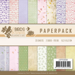 Bloc de papier - Jeanine's Art - Birds and Flowers 15.2 x 15.2