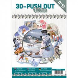 Carte 3D livre A4 prédécoupé - Hiver 24 images + papiers