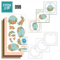 Stitch and do 98 - kit Carte 3D broderie - Cages à oiseaux fleuries