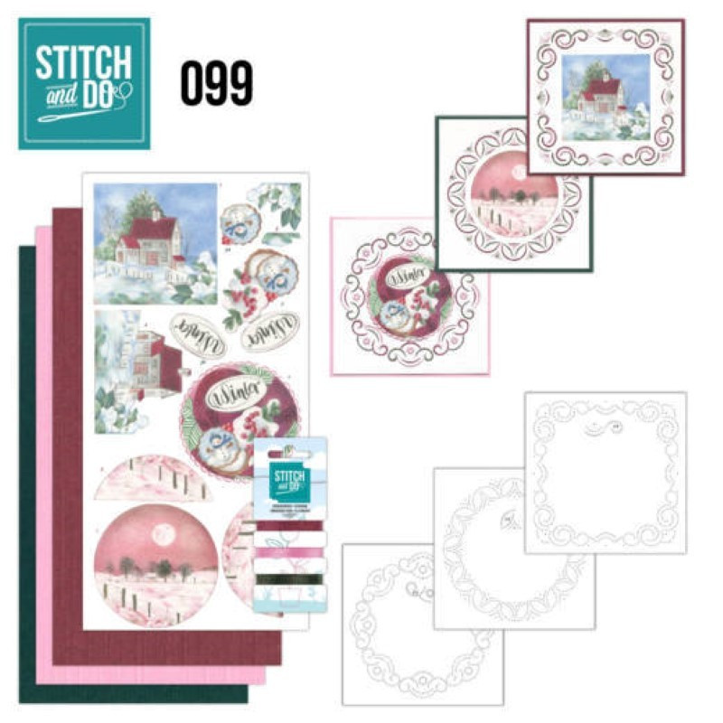 Stitch and do 99 - kit Carte 3D broderie - Nuit d'hiver