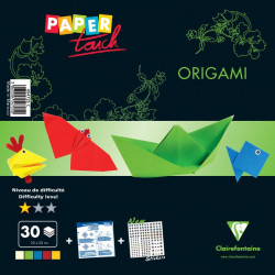 Kit origami initiation 30 feuilles assorties 20x20cm