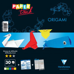 Kit origami perfectionnement 30 feuilles assorties