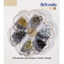 ARTEMIO 120 Mini Attaches parisiennes Or argent