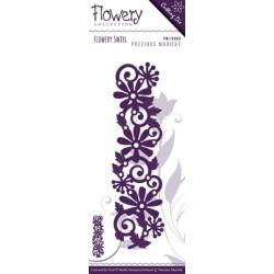 Die - precious marieke - flowery swirl 3,5 x 12,5 cm