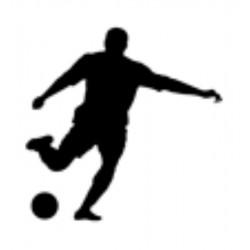 Artemio Tampon joueur foot 4x3.8 cm