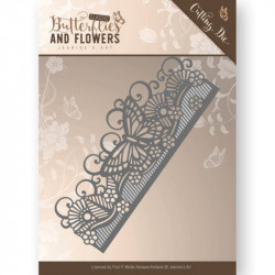 Die - Jeanine's Art - Classic Butterflies and Flowers - Bordure papillon