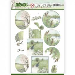 Carte 3D prédéc. - Jeanine's Art - Landscapes - Paysages d'hiver