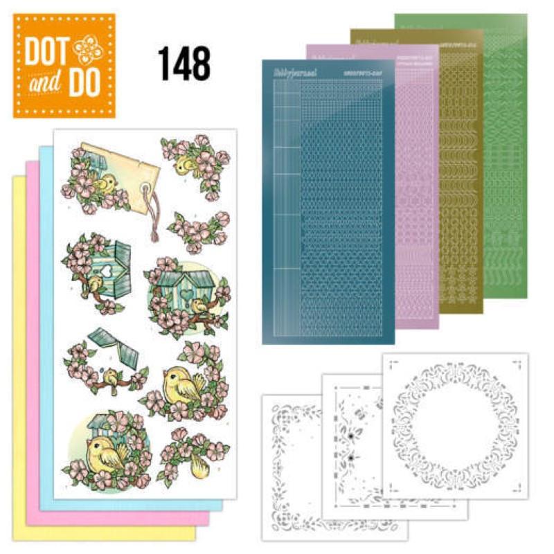 Dot and do 148 - kit Carte 3D - Maison d'oiseaux