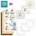 Stitch and do 101 - kit Carte 3D broderie - C'est le printemps