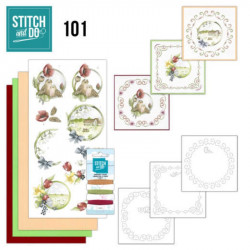 Stitch and do 101 - kit Carte 3D broderie - C'est le printemps