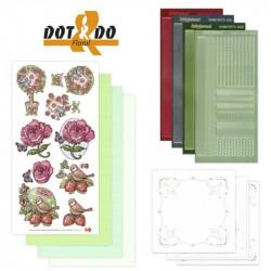 Dot and do 002 - kit Carte 3D - Fleurs et oiseaux