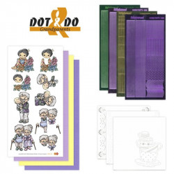 Dot and do 006 - kit Carte 3D - Grands parents