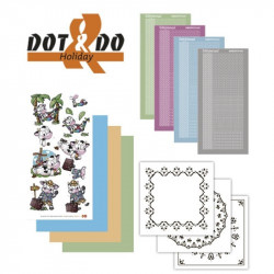 Dot and do 019 - kit Carte 3D - Les vacances