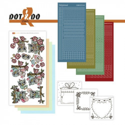 Dot and do 028 - kit Carte 3D - Chouettes