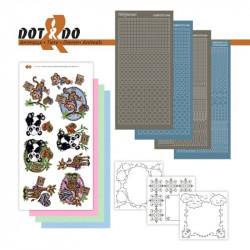 Dot and do 030 - kit Carte 3D - Panda singe et girafe