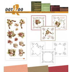 Dot and do 036 - kit Carte 3D - Fleurs de noël