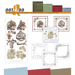 Dot and do 040 - kit Carte 3D - Images de noël