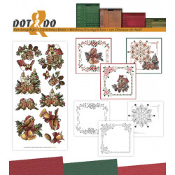 Dot and do 041 - kit Carte 3D - Oiseaux à noël
