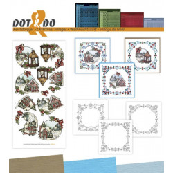 Dot and do 042 - kit Carte 3D - Village de noël