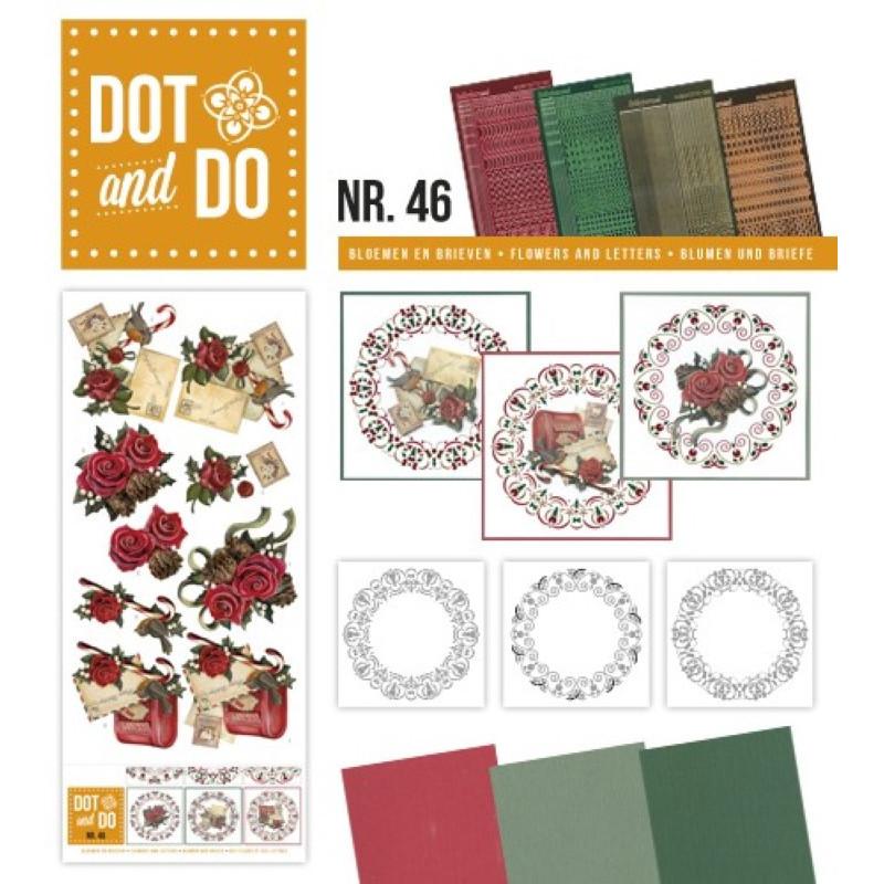 Dot and do 046 - kit Carte 3D - Roses et lettres