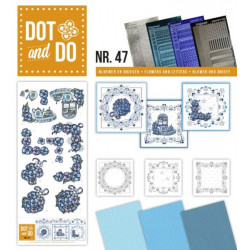 Dot and do 047 - kit Carte 3D - Fleurs et thé