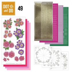 Dot and do 049 - kit Carte 3D - Fleurs roses