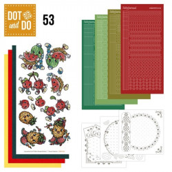 Dot and do 053 - Kit Carte 3D - Les fruits