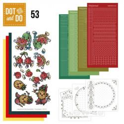 Dot and do 053 - Kit Carte 3D - Les fruits