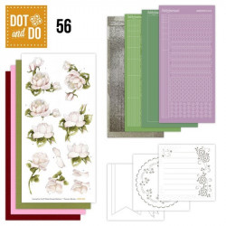 Dot and do 056 - Kit Carte 3D - Roses blanches