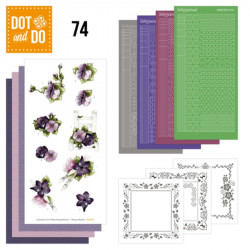 Dot and do 074 - kit Carte 3D - Fleurs pourpres