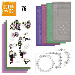 Dot and do 076 - kit Carte 3D - Fleurs