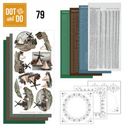 Dot and do 079 - kit Carte 3D - Hollande vintage