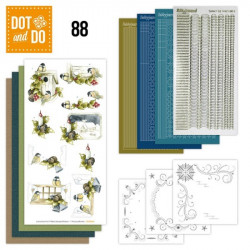 Dot and do 088 - kit Carte 3D - Mésanges et bougies