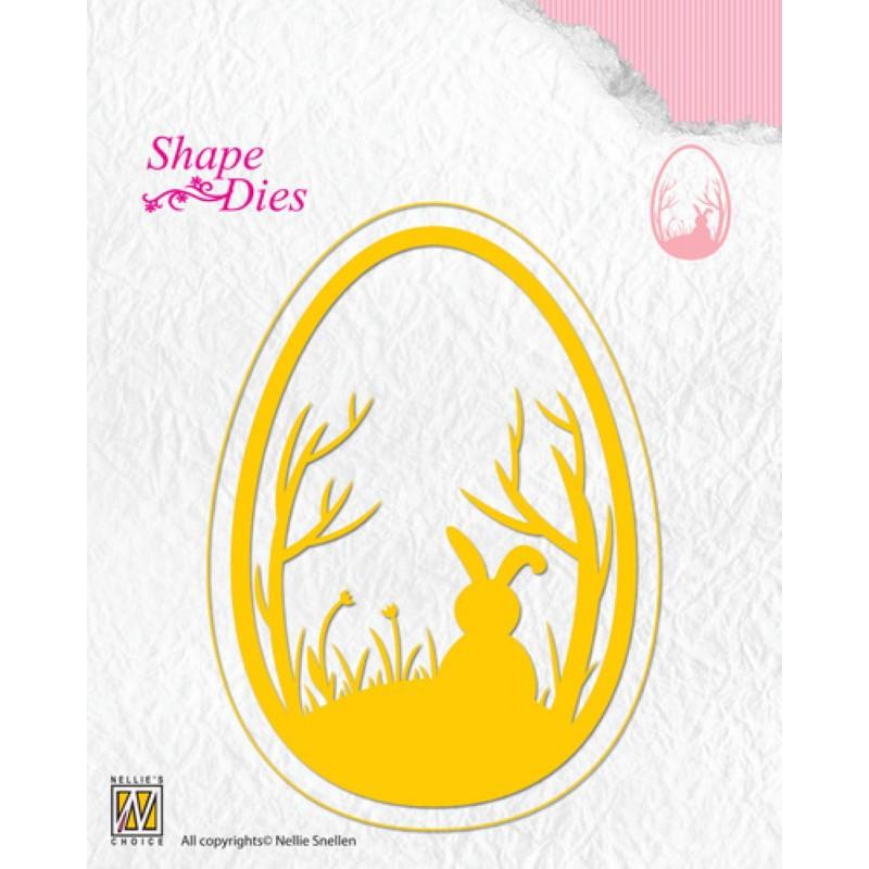 Shape Dies Oeuf de pâques 8x11 cm