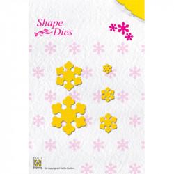 5 Dies edelweiss étoile - 3,5x4 cm