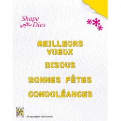 Shape Dies texte - 6,5 cm