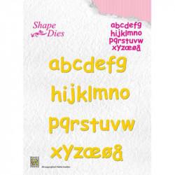 Shape Dies alphabet minuscule lettres de 1,5x1 cm
