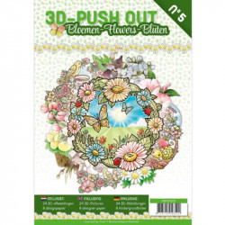 Carte 3D livre A4 prédécoupé - Fleurs 24 images + papiers