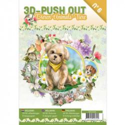 Carte 3D livre A4 prédécoupé - Animaux 24 images + papiers