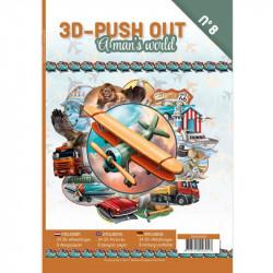 Carte 3D livre A4 prédécoupé - Un monde d'hommes 24 images + papiers