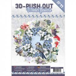 Carte 3D livre A4 prédécoupé - Fleurs d'hiver 24 images + papiers